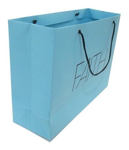 sacolas papel personalizadas coloridas 50 unid