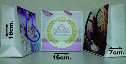 sacolas papel personalizadas tam.15x14x7,0 pact. com 10 unid