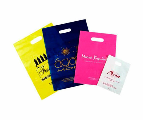 sacolas plásticas personalizadas 20x30 alça vazada 1000 unid