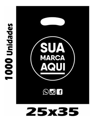 sacolas plásticas personalizadas 25x35 / 1000 un promoção