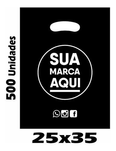 sacolas plásticas personalizadas 25x35 / 500 un promoção