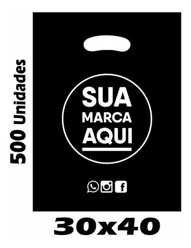 sacolas plásticas personalizadas 30x40 / 500 un promoção