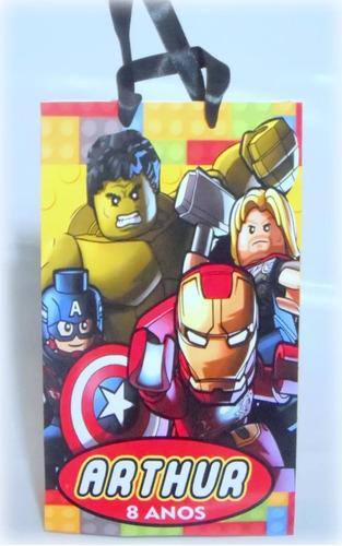 sacolinha personalizada heróis lego (60 un)