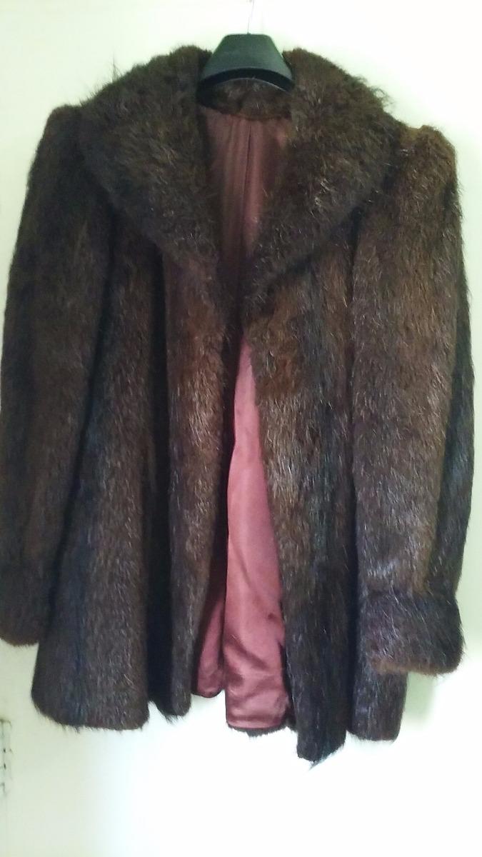 sacon tapado piel abrigo pelo largo marron xxl imperdible. Cargando zoom. 4b0a8ebca1da