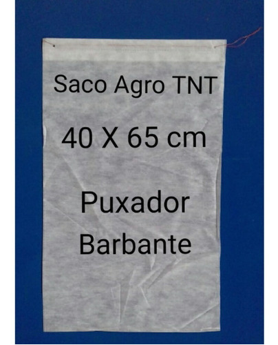 sacos agro tnt puxador barbante 40x65cm 100un proteção