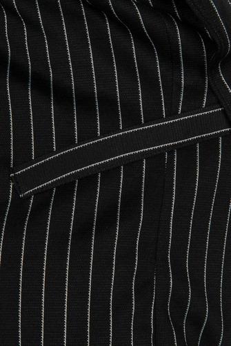 sacos dama casuales rayado negro abiertos amplios t91100