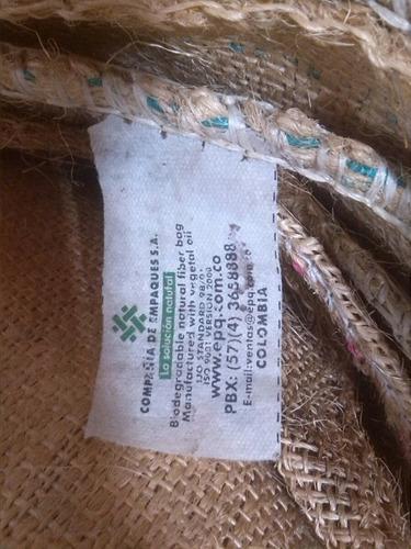 sacos de yute grandes. biodegrad. hechos en fibra de yute