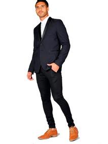 058ce2f2f Saco Vestir Hombre Entallado - Ropa y Accesorios Azul marino en Mercado  Libre Argentina