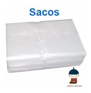 sacos plásticos virgem transparente pebd c/ 5kg diversos tam