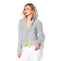 Two By Vince Camuto Saco Talla M Rayas Blancas Y Grises