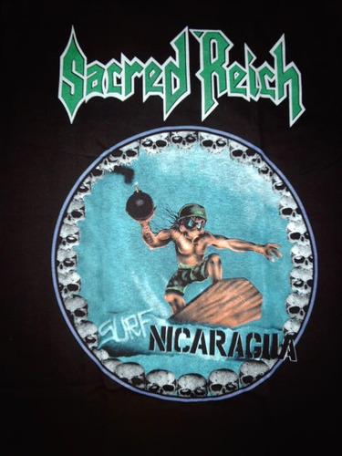 sacred reich - surf nicaragua - polera