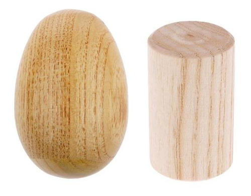 sacudidor de madera maraca traqueteo + shaker cilíndrico