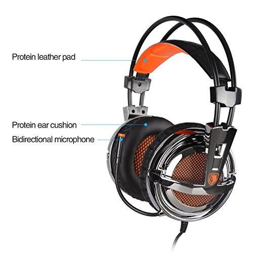 sades 928 multiplataforma ligero de 3,5 mm para auriculares