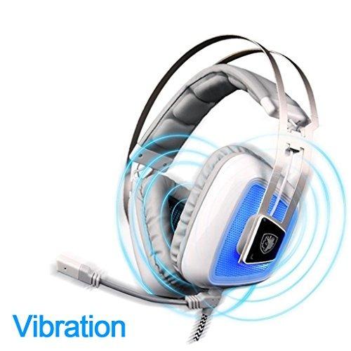 sades a8 auriculares gaming 7.1 surround sound durante oído