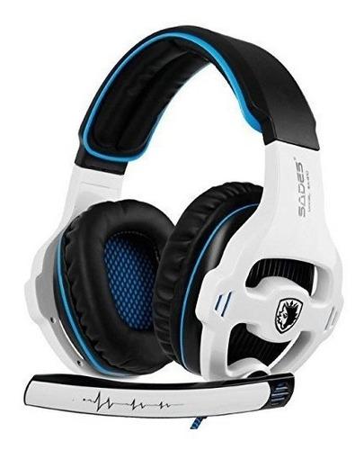 sades sa810 auriculares stereo gaming para ps4 pc controlado