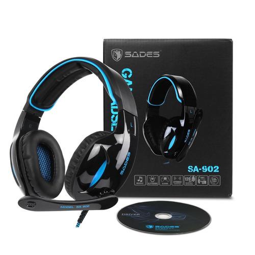 sades sa902 gaming headset auriculares estéreo de 7.1 canale