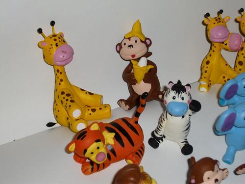safari bebe, animales de la selva, recuerditos masa flexible