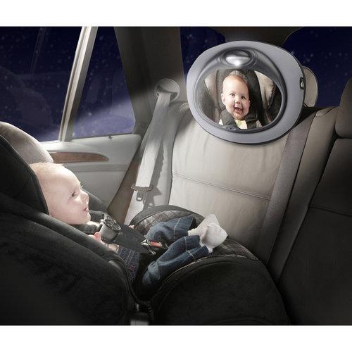 Safefit espejo para observar al bebe en el auto luz y for Espejo para mirar bebe auto