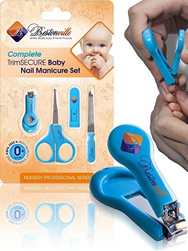 safety baby nail clippers con tijeras y archivo complete gro