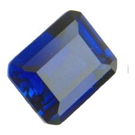 Safira Azul Retângulo 10x8 Mm 3029pb