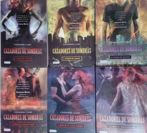 saga cazadores de sombras 6 libros envío gratis