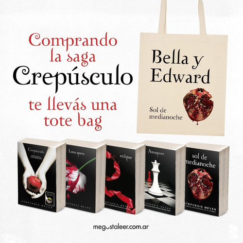 saga completa crepúsculo + 1 tote bag - stephenie meyer