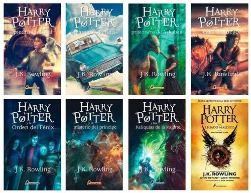 saga completa de harry potter+3 extras+ 8vo envío gratis