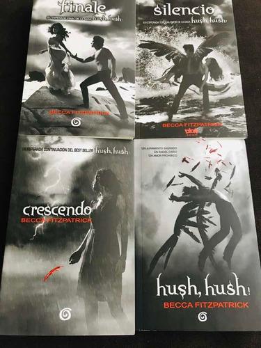 saga de hush hush - crescendo/silencio /finale+envio gratis