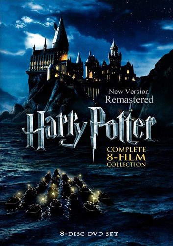 saga harry potter nueva versión remasterizada dvd latino 5.1