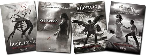 saga hush hush, crescendo, silencio, finale oferta 4 libros