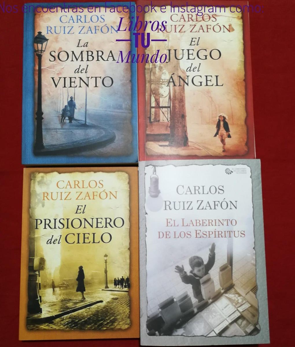 saga la sombra del viento carlos ruiz zafón 4 libros nuevos. Cargando zoom.