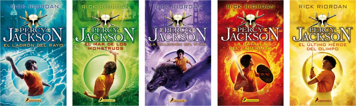 Saga Pdf: Percy Jackson Y Los Dioses Del Olimpo (5 Libros
