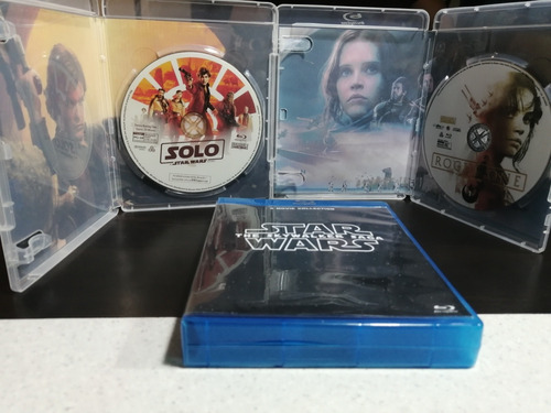 saga star wars episode 1 al 8 + rogue one + solo bluray bd25