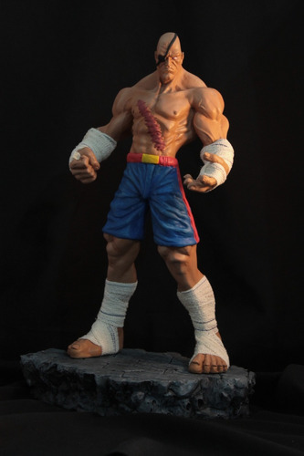 sagat street fighter escultura em resina 1/5