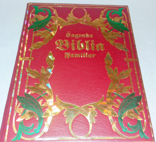 sagrada biblia familiar de lujo en perfecto estado.