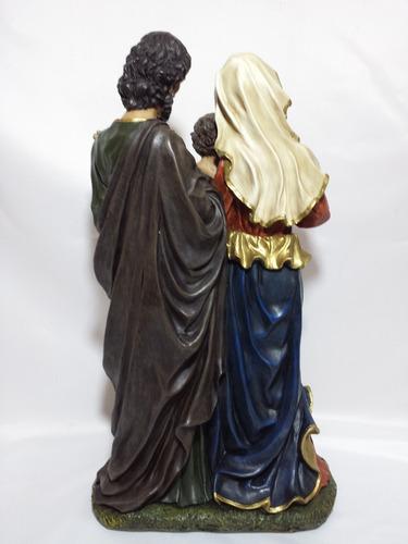 sagrada familia de  46cm de altura figura de resina