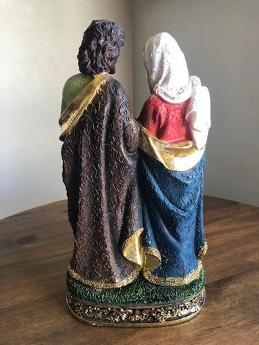 sagrada familia resina dourado 30cm