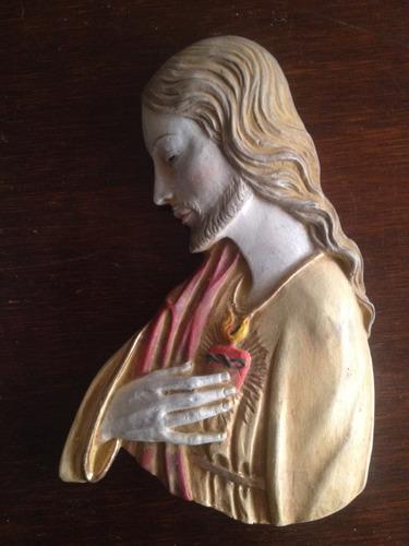 sagrado corazon de jesus para pared italiano 18 cm perfecto