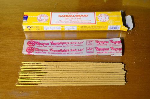 sahumerios nag champa sandalwood por mayor pack x 12 cajas