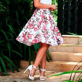 420d65a9c6 Saia Gode Midi Floral Da Moda Evangelica - Calçados