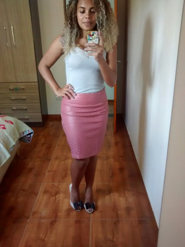 saia cintura alta feminina
