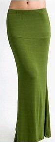 saia comprida verde verao casual pronta entrega