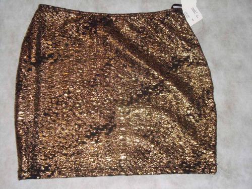 saia curta forever 21 dourada e preta importada