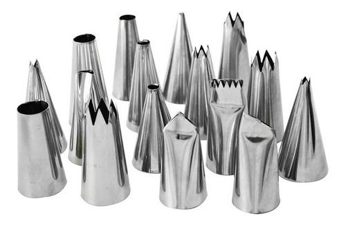 saia de boneca forma alumínio + kit de bicos com 24 pçs inox