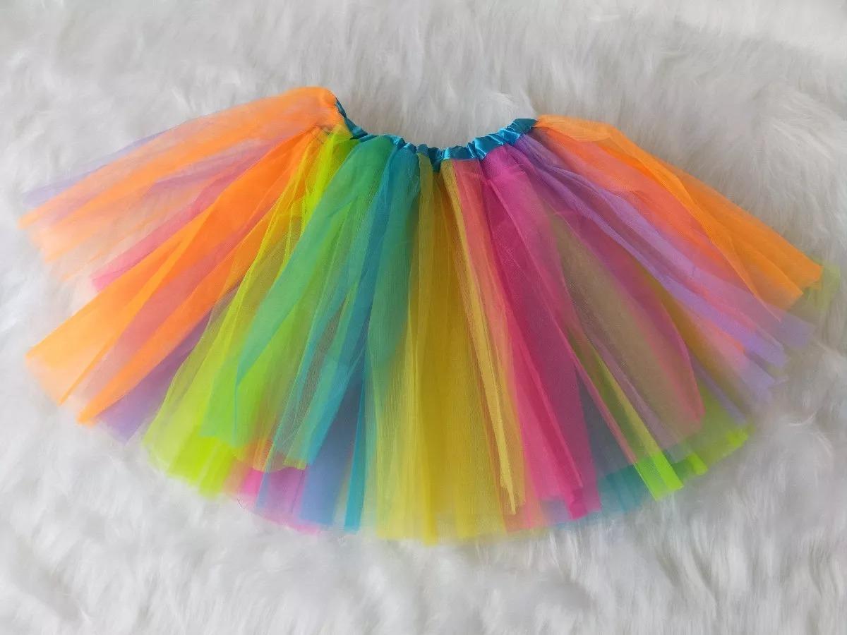 Saia De Tule Para Festa Ballet Fantasia Bale Colorido R 2999 Em