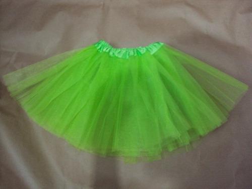 saia de tule tutu verde transparente fantasia fiona sininho