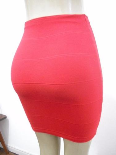 saia feminina bandage curta