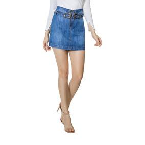 672e05b6b Saia Feminina Lez A Lez Jeans Com Cinto Western Jeans