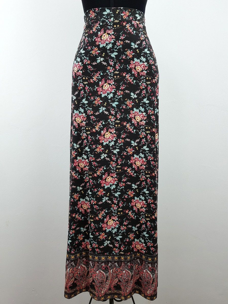 57b2b1aac5 ... cintura alta estampa floral. Carregando zoom... saia feminina longa. Carregando  zoom.
