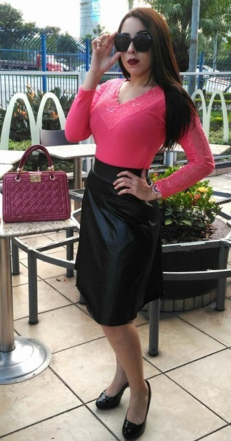 59f3895bf7 Saia Feminina Midi Secretária Rodada Moda Evangélica - R  34